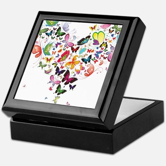Heart of Butterflies Keepsake Box