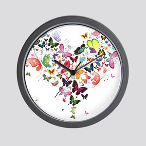 Heart of Butterflies Wall Clock