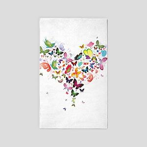Heart of Butterflies Area Rug
