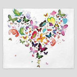 Heart of Butterflies King Duvet