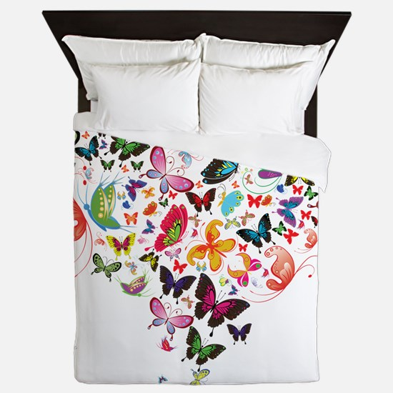 Heart of Butterflies Queen Duvet
