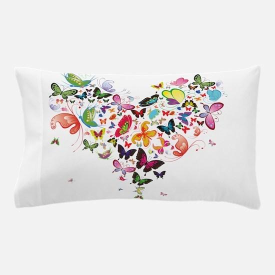 Heart of Butterflies Pillow Case