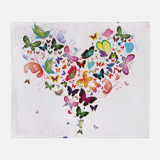 Heart of Butterflies Throw Blanket