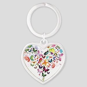 Heart of Butterflies Keychains