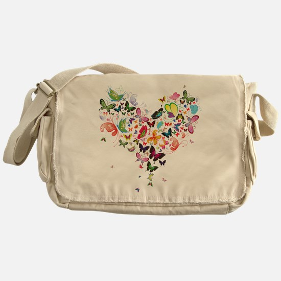 Heart of Butterflies Messenger Bag
