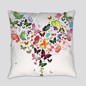 Heart of Butterflies Everyday Pillow