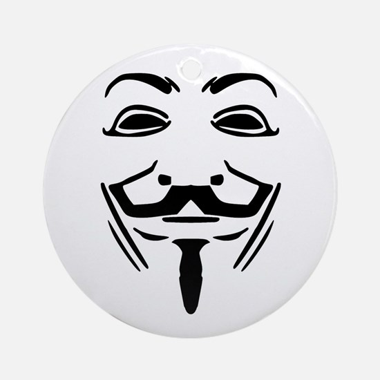 Guy Fawkes Ornament (Round)