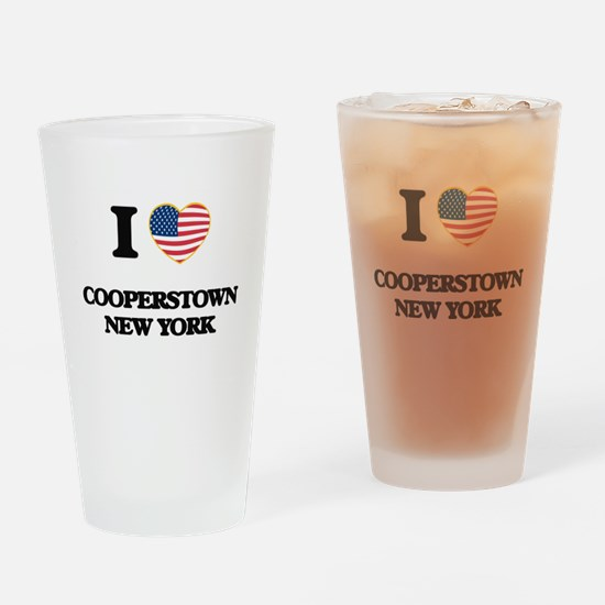 I love Cooperstown New York Drinking Glass