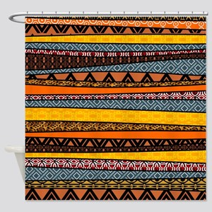 African Tribal Pattern Mix Shower Curtain