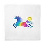 Rainbow Horse Queen Duvet