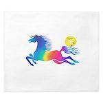 Rainbow Horse King Duvet
