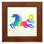Rainbow Horse Framed Tile