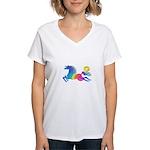 Rainbow Horse Women's V-Neck T-Shirt