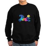 Rainbow Horse Sweatshirt (dark)