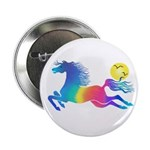 """Rainbow Horse 2.25"""" Button (10 Pack)"""