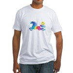 Rainbow Horse Fitted T-Shirt