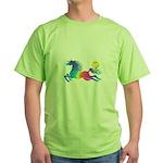 Rainbow Horse Green T-Shirt