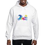 Rainbow Horse Hooded Sweatshirt