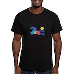 Rainbow Horse Men's Fitted T-Shirt (dark)