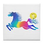 Rainbow Horse Tile Coaster