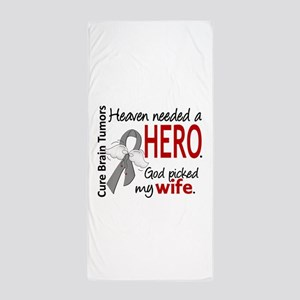Brain Tumor HeavenNeededHero1 Beach Towel