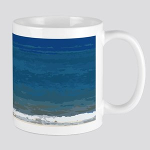 Beach Chairs and Umbrella Mug