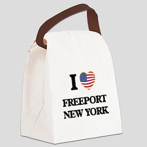 I love Freeport New York Canvas Lunch Bag