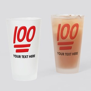 One Hundred Personalized Drinking Glass