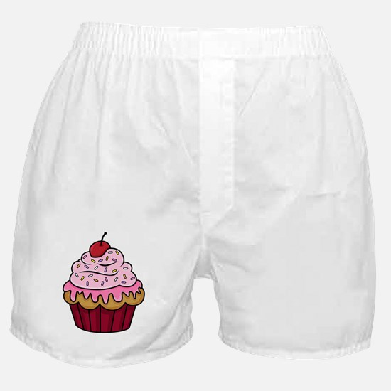 Vanilla Cupcake w/Pink Frosting Boxer Shorts