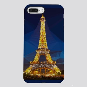 Eiffel Tower Blue Gold Low Poly iPhone 7 Plus Toug