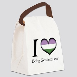 I Heart Being Genderqueer Canvas Lunch Bag