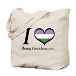 I Heart Being Genderqueer Tote Bag