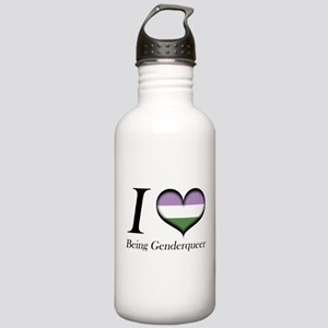 I Heart Being Genderqueer Water Bottle