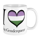 I Heart Being Genderqueer Mugs