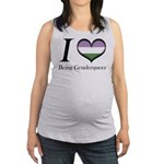 I Heart Being Genderqueer Maternity Tank Top