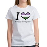 I Heart Being Genderqueer T-Shirt