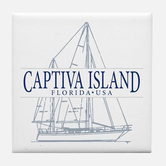 Captiva Island - Tile Coaster