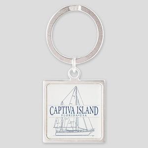 Captiva Island - Square Keychain