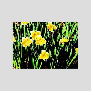 Spring Daffodils 5'x7'Area Rug