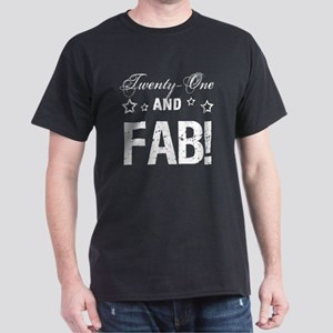 Fabulous 21st Birthday Dark T-Shirt