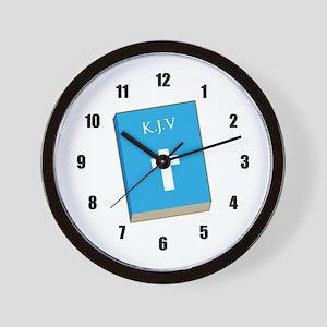 K.J.V. Bible Wall Clock
