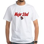 USAF Major Stud White T-Shirt