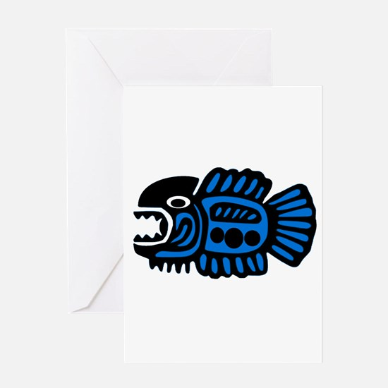 FISH TRIBE Greeting Cards