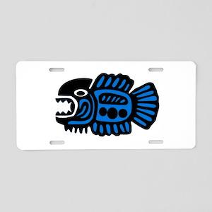 FISH TRIBE Aluminum License Plate