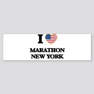 I love Marathon New York Bumper Sticker