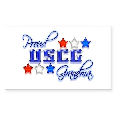 USCG Grandma Rectangle Sticker