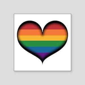 LGBT Rainbow Heart Sticker