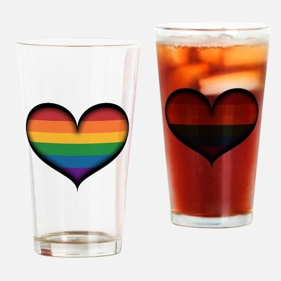LGBT Rainbow Heart Drinking Glass