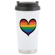 LGBT Rainbow Heart Travel Mug