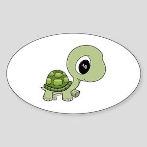 Baby Turtle Sticker (Oval)